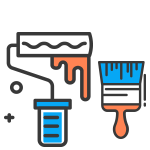 Paint, Stain, Paint Roller Icon, Paint Brush Icon